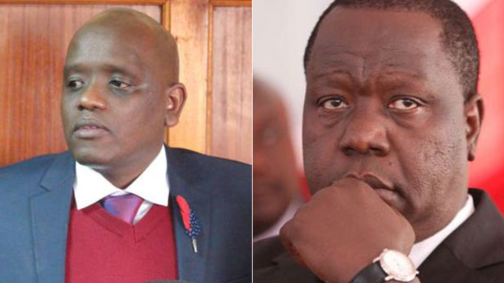 Fred Matiang'i (R) and Dennis Itumbi. PHOTOS/COURTESY