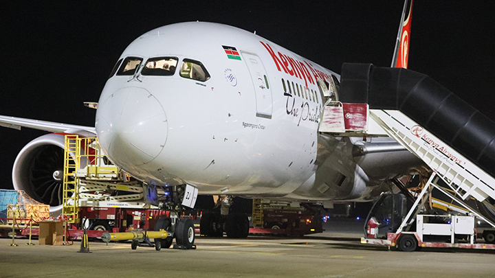 KQ cargo plane. PHOTO/COURTESY
