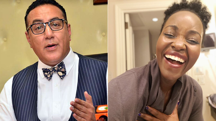 Najib Balala and Lupita Nyong'o. PHOTOS/COURTESY