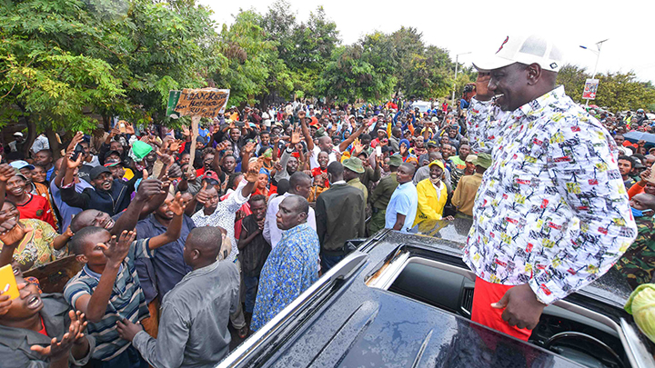 William Ruto in Isiolo. PHOTO/DPPS