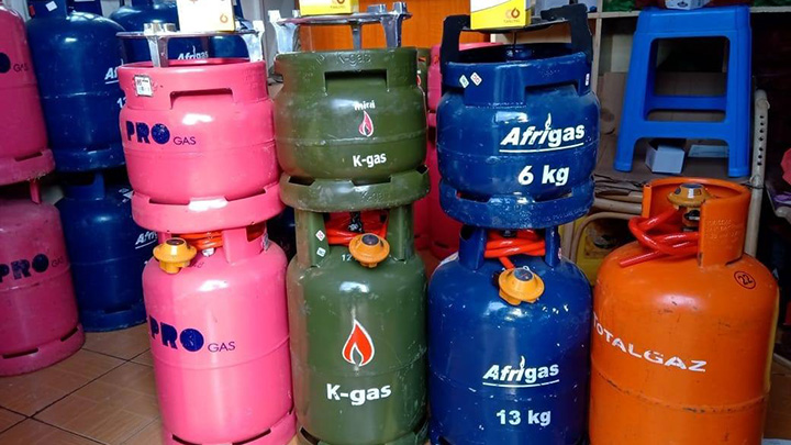 Gas cylinders.