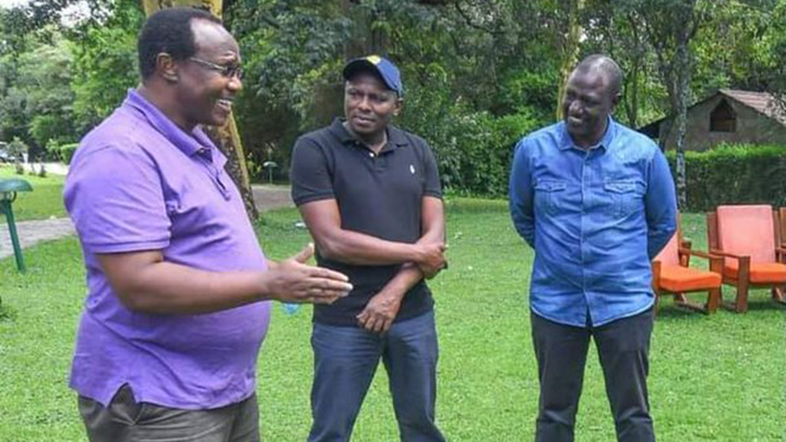David Ndii, Kimani Ichung'wa and William Ruto.