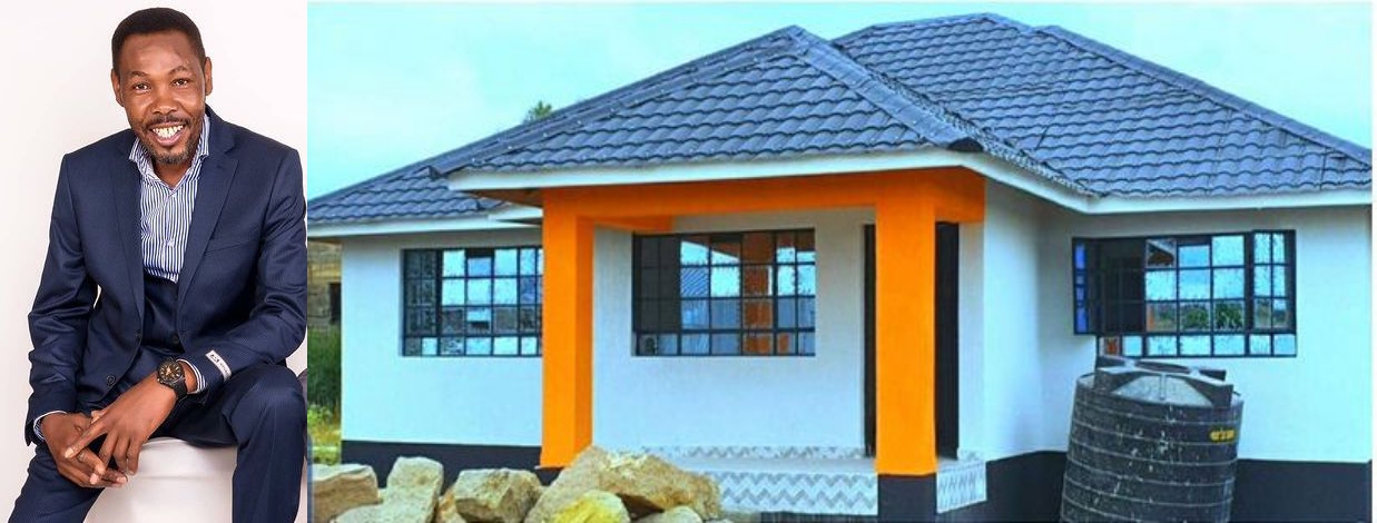 Omosh and his house. PHOTO/COURTESY