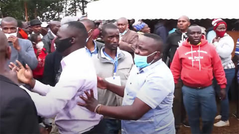 Fight erupts at Murang's funeral on Friday.