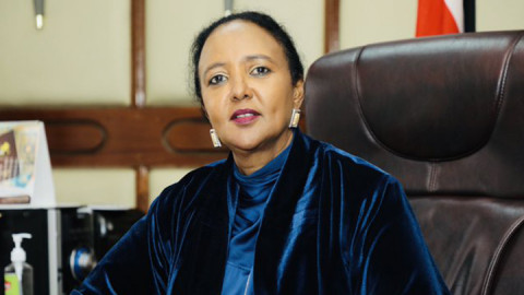 Sports CS Amina Mohamed. PHOTO/COURTESY