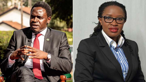 Nelson Havi and Mercy Wambua.