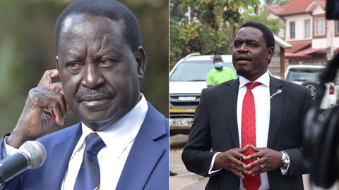 Raila Odinga and Nelson Havi.