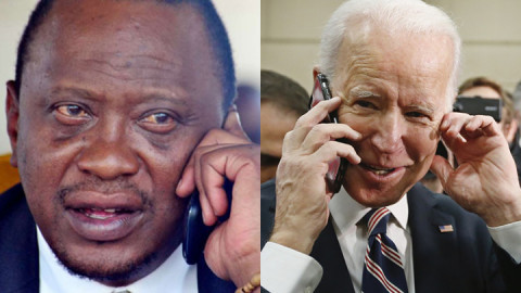 Uhuru Kenyatta and Joe Biden. PHOTOS/COURTESY