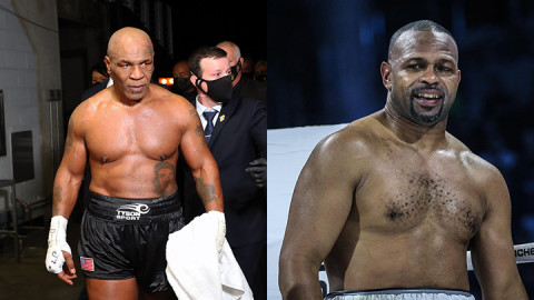 MIke Tyson and Roy Jones Jr. PHOTOS/COURTESY