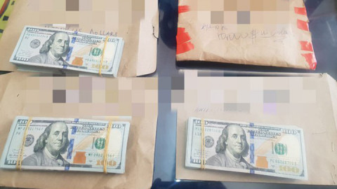 Cash recovered from the suspects. PHOTO/DCI