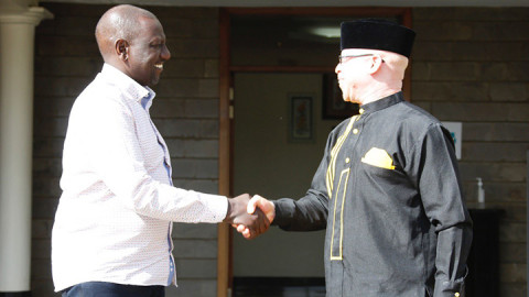 Wiliam Ruto and Isaac Mwaura. PHOTO/COURTESY