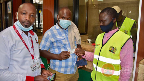 Huduma Card collection. PHOTO/MOICNG