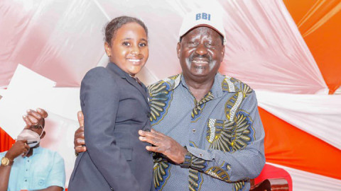 Raila Odinga and Shukri Shakira. PHOTO/COURTESY