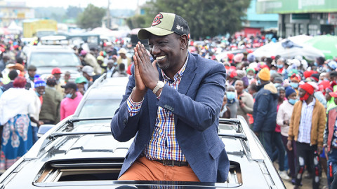 William Ruto in Nyandarua. PHOTO/DPPS