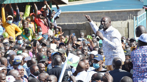 William Ruto in Nandi. PHOTO/DPPS