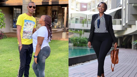 Samidoh holding his wife Edith (L) and Karen Nyamu (R). PHOTOS/COURTESY