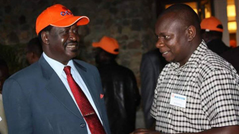 Raila Odinga and Philip Etale. PHOTO/COURTESY