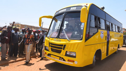 DP William Ruto driving the bus on March 6. PHOTO/DPPS