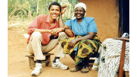 Barack Obama and Mama Sarah Obama in 1988. PHOTO/COURTESY
