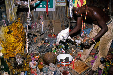Witchdoctor and his paraphernalia. PHOTO COURTESY