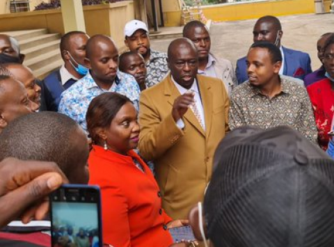 Rigathi Gachagua and friends after release. PHOTO/COURTESY